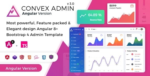 Convex - Angular Bootstrap Admin Dashboard Template - Admin Templates Site Templates