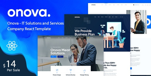 Onova - IT Solutions and Services Company React Template - Business Corporate
