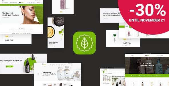 Kaline - Responsive eCommerce PSD Template - Health & Beauty Retail