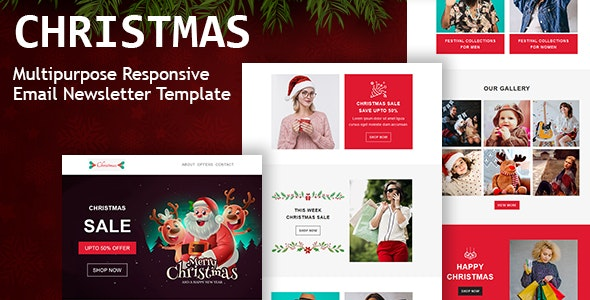 Christmas - Responsive Email Newsletter Template - Newsletters Email Templates