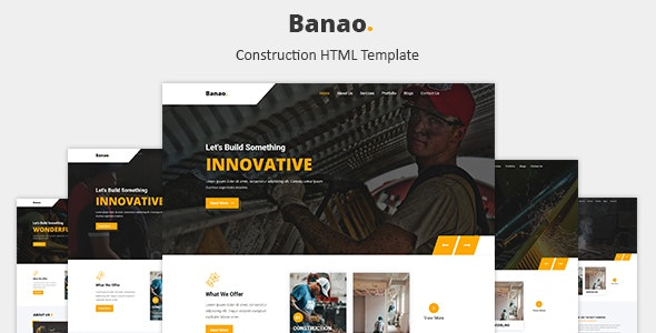Banao - Construction HTML Template - Business Corporate
