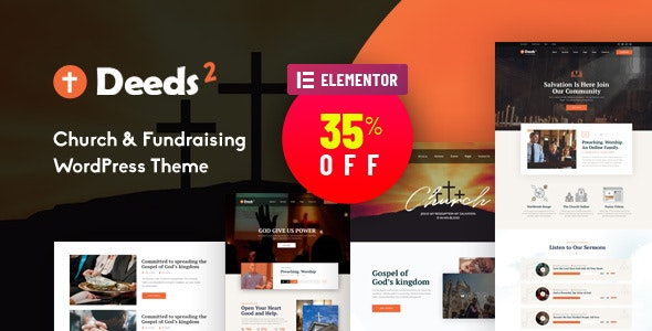 Deeds2 - Religion and Church WordPress Theme - Churches Nonprofit