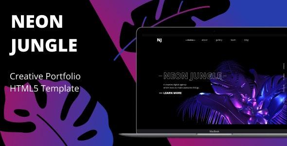 Neon Jungle — Creative Agency Template - Creative Site Templates