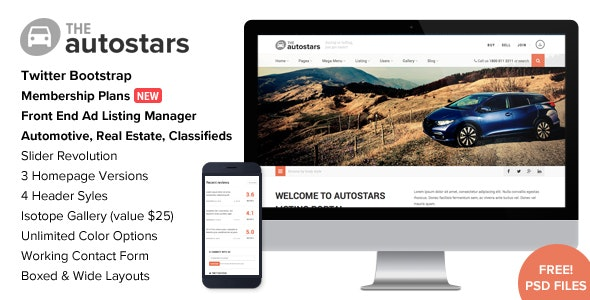 Auto Stars - Car Dealership and Listings WP Theme - Directory & Listings Corporate