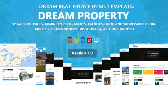 Dream Property - Real Estate HTML Template - Business Corporate