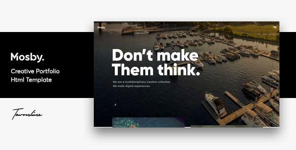 Mosby - Agency & Freelancer Portfolio Template - Portfolio Creative