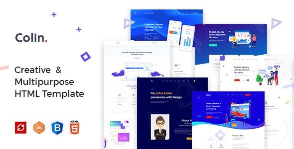 Colin - Creative Multipurpose HTML Template - Creative Site Templates