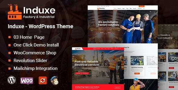 Induxe - Factory and Industry WordPress Theme - Business Corporate