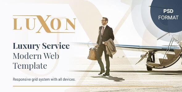 LUXON - Luxury Services Modern Web PSD Template - PSD Templates