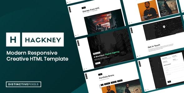 Hackney - Minimal Creative Portfolio Template - Portfolio Creative