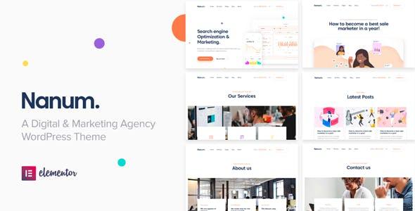 Nanum — Digital & Marketing Agency WordPress Theme