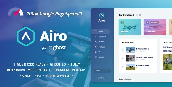 Airo - Minimal Theme for Ghost - Ghost Themes Blogging
