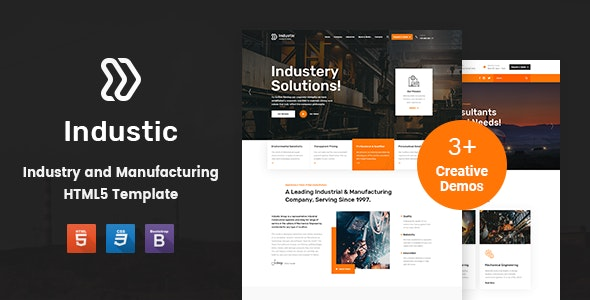 Industic - Factory and Manufacturing HTML5 Template - Business Corporate