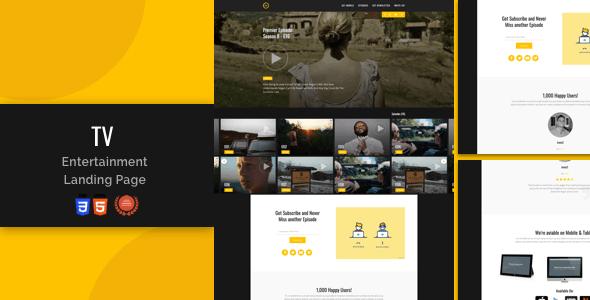 Tv-Entertainment Responsive Landing Page - Film & TV Entertainment
