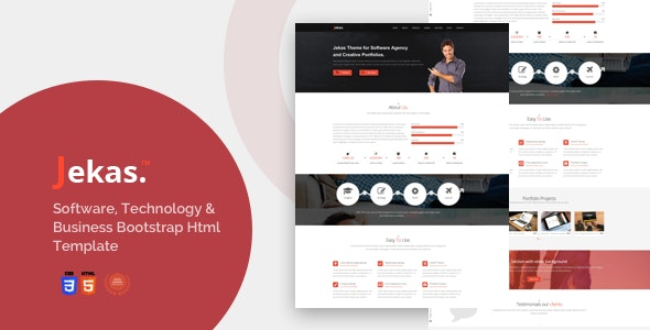 Software, Technology & Business Bootstrap Html Template - Jekas - Software Technology