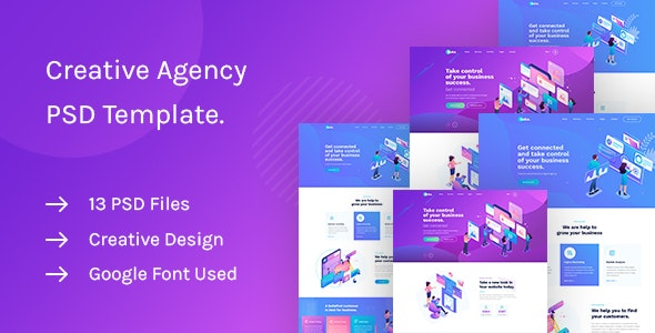 Saku - Agency And Business PSD Template - Corporate PSD Templates