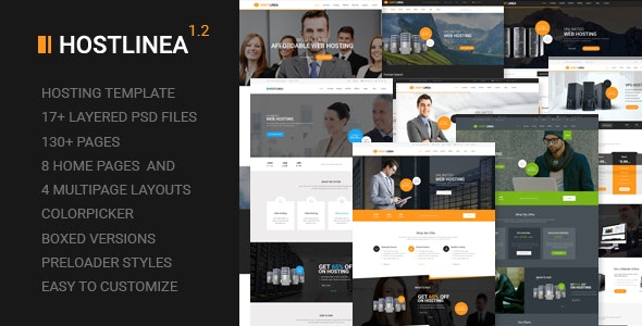 Hostlinea - Web Hosting, Responsive HTML5 Template - Hosting Technology