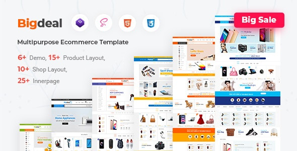 Bigdeal - eCommerce HTML + Admin Template - Shopping Retail