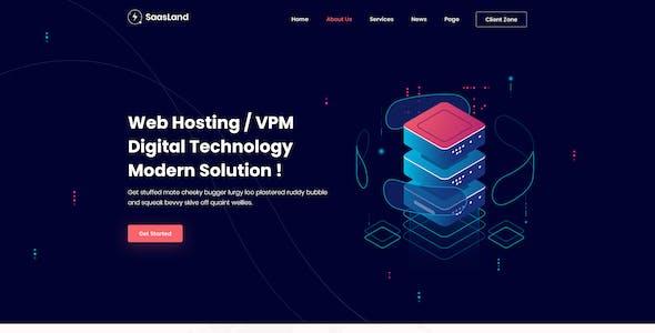 Saasland | MultiPurpose PSD Template for Startup & Agency