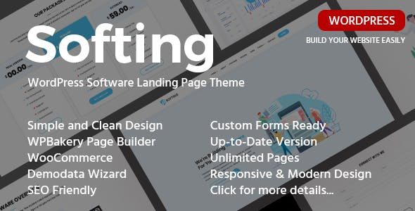 Softing -Software Landing Page WordPress Theme