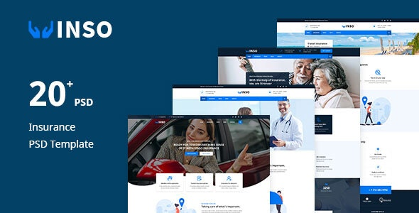 Vinso | Insurance PSD Template - Business Corporate