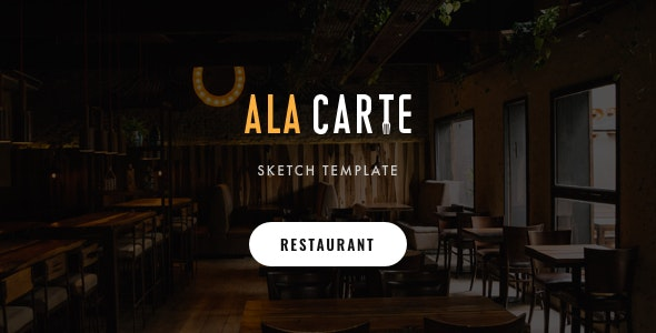 Alacarte - Restaurant & Cafe Sketch Template - Sketch Templates