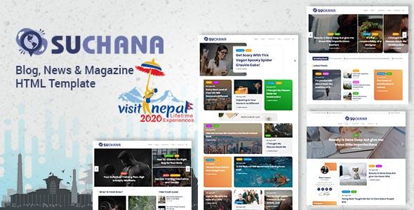 Suchana - Blog, News & Magazine HTML Template