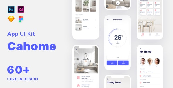 Cahoome - Smart Home UI Kit - Miscellaneous Sketch