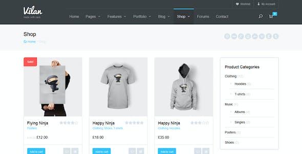 Vilan Corporate, Shop & Forum WordPress Theme