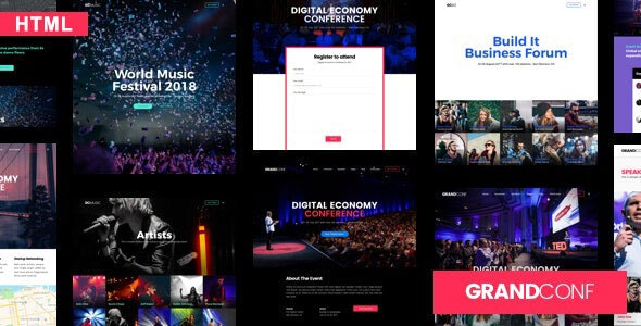 Grand Conference | Event HTML Template - Events Entertainment