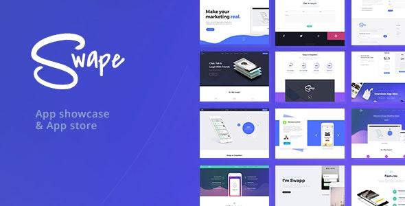 Swape - App Showcase & App Store WordPress Theme - Software Technology