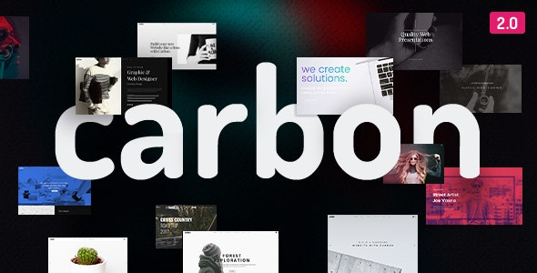 Carbon - Clean Minimal Multipurpose WordPress Theme - Creative WordPress