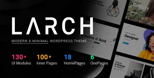 Larch - Responsive Minimal Multipurpose WordPress Theme - Creative WordPress