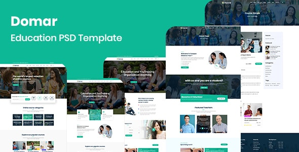 Domar - Education PSD Template - Environmental Nonprofit