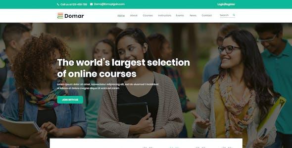 Domar - Education PSD Template