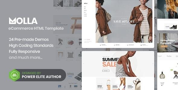 Molla - eCommerce HTML5 Template - Fashion Retail
