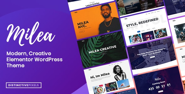 Milea - Flexible Creative WordPress Theme - Business Corporate