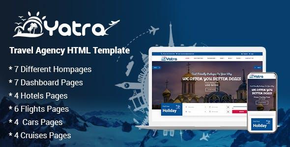 Yatra - Travel Agency HTML Template
