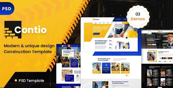 Contio  - Construction PSD Template - Business Corporate