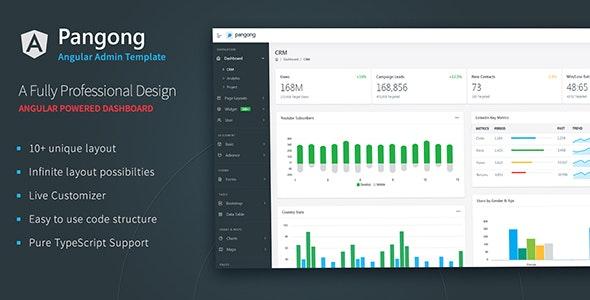 Pangong - Angular 8 Admin Dashboard + UI Kit - Admin Templates Site Templates
