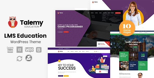 Talemy - LMS Education WordPress Theme - Education WordPress