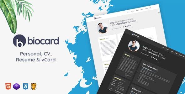 Biocard - Personal / CV / Resume & vCard - Portfolio Creative