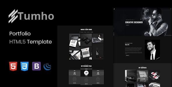 Tumho - Personal Portfolio Template - Portfolio Creative