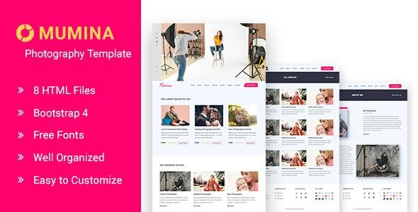 Mumina Photography and Portfolio HTML Template - Photography Creative