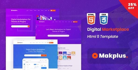 Makplus v1.0 – Digital Marketplace HTML5 Template