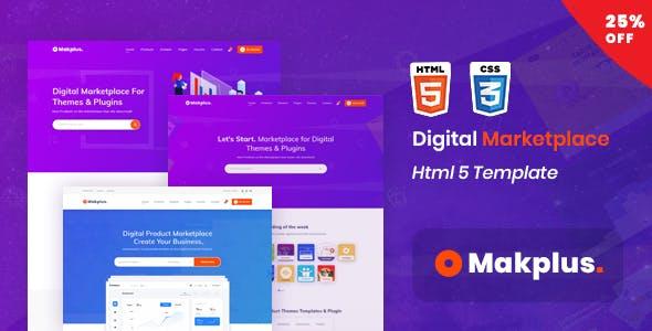 Makplus - Digital Marketplace HTML5 Template
