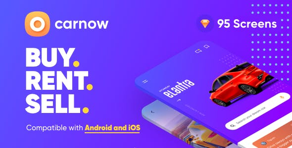 Carnow - New car, Used car and Sell Car Mobile UI Kit for sketch App