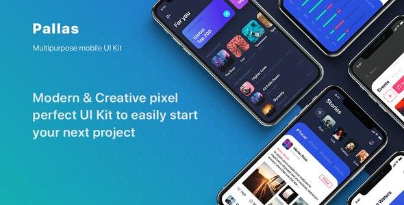 PALLAS - Multipurpose Card-based UI Kit - Creative Sketch