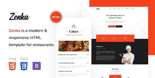Zenka - Responsive Restaurant HTML Template - Food Retail