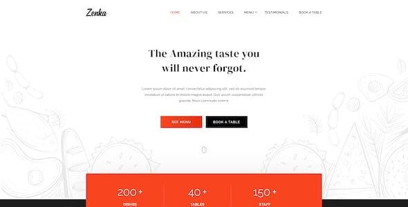 Zenka - Responsive Restaurant HTML Template